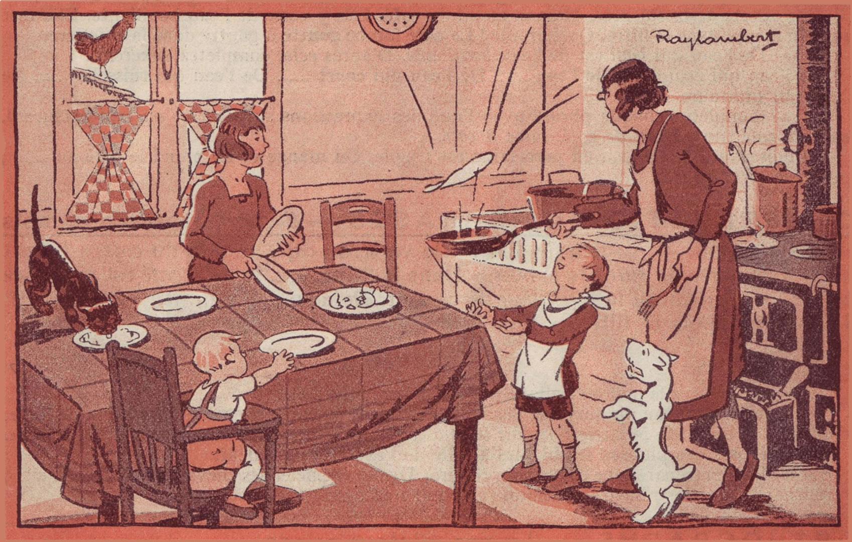 0058 - Méthode et exercices de Langue Française CE1 - Ill.Raylambert - Delagrave - L'omelette dorée p37